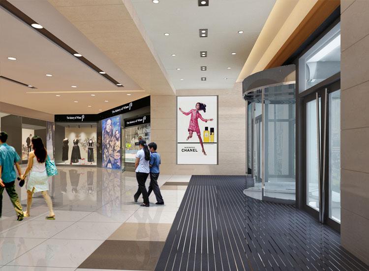 金钻购物中心门厅入口